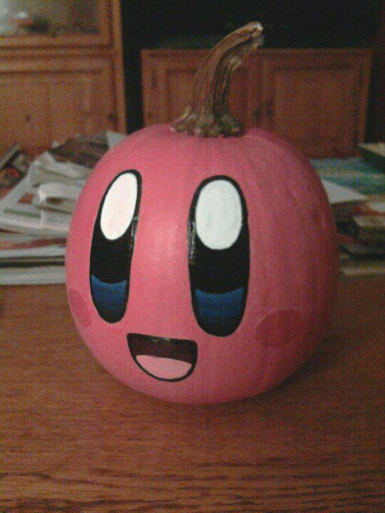 Kirby Pumpkin by water-kirby