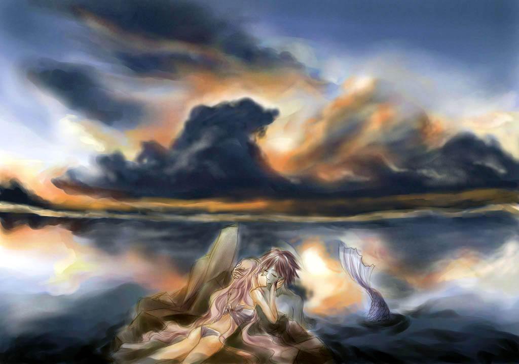 woman and merman by egosun