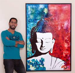 Bouddha 150/100 cm