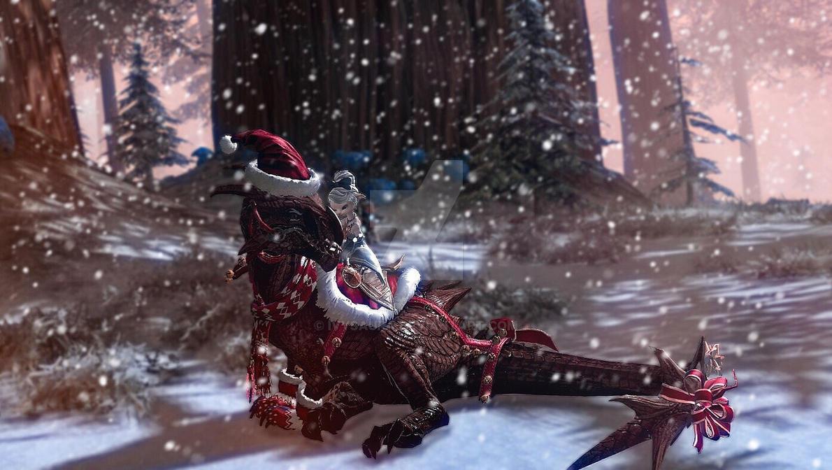 Guild Wars 2 Screenshot   Merry Christmas  by Ivysaura