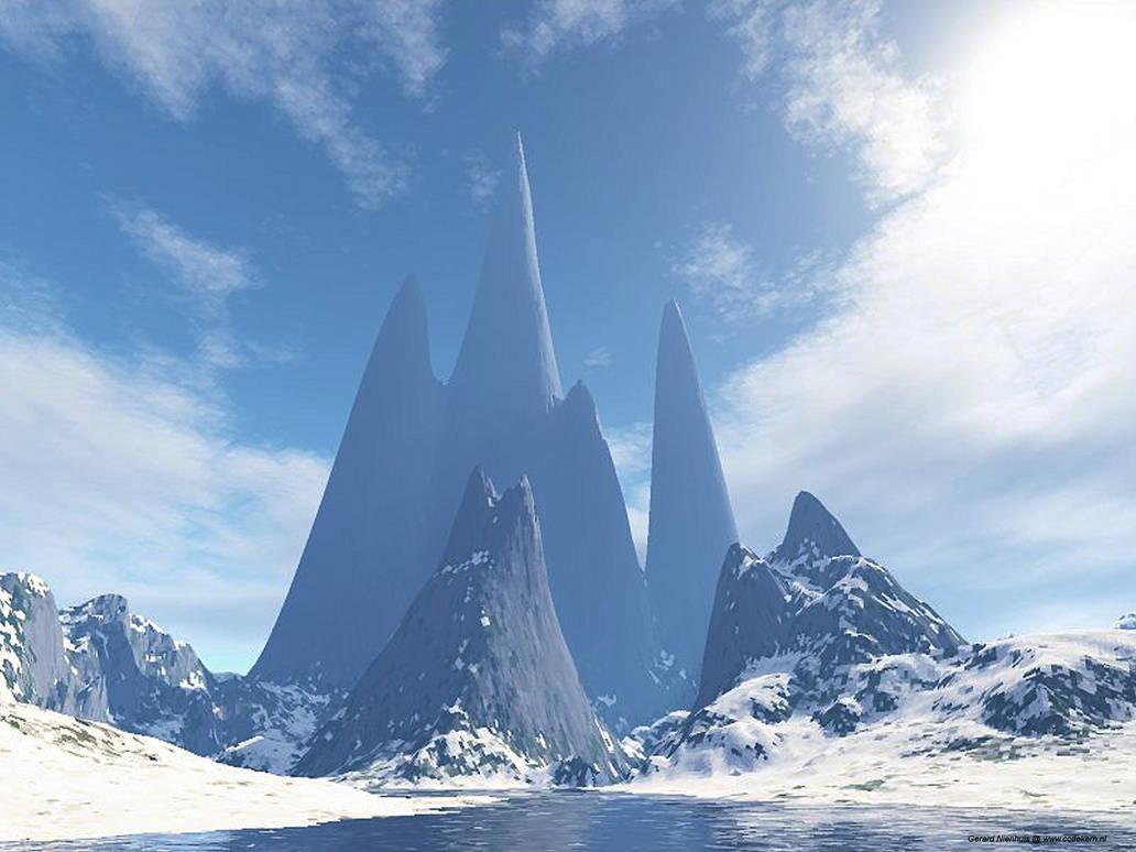 Frozen castle ruins