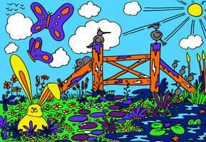 Yellow Rabbit (Doodle 033 C)