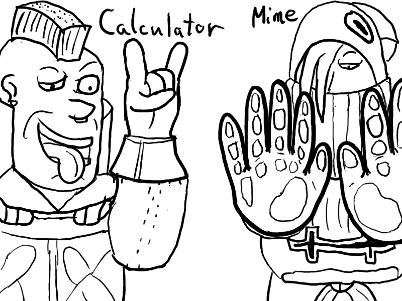 FFT: Calculator and Mime by HardyRR on DeviantArt
