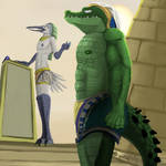 Thoth and Sobek