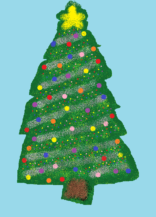 Christmas Tree MS paint version by Diamondec on DeviantArt