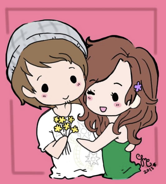 Chibi Couple by GingerBreadKitten on DeviantArt