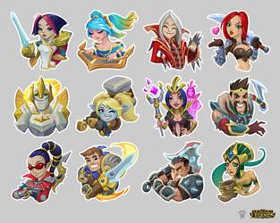 Lol Stickers Demacia anss Noxus by blazan