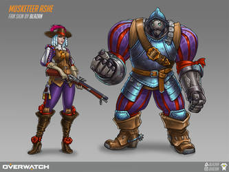 Musketeer Ashe (and Bob) skin by blazan