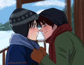 Finish kiss - ereri - by URESHI-SAN