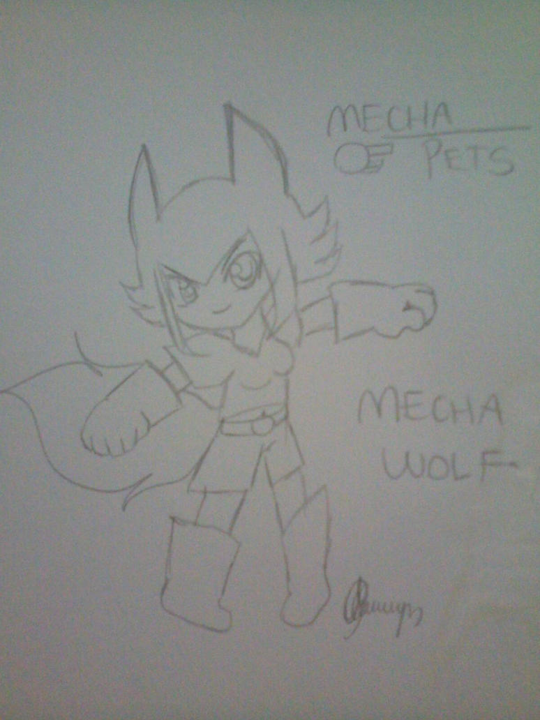 Mecha_Pets_Mecha_Wolf_Drawing_by_TVMiluna by TVMiluna