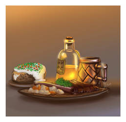For fun: Fantasy clutter (dwarven meal)