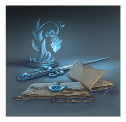 For fun: fantasy clutter (Elven letter) by MagicalKaleidoscope