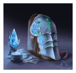 For fun: fantasy clutter (Shoulder armor) by MagicalKaleidoscope