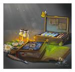 Commission: Alchemist/herbalist research set