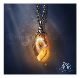 For fun: Fantasy clutter Amber necklace by MagicalKaleidoscope