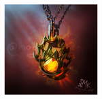 For fun: Fantasy clutter (Fireball necklace)