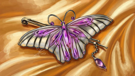 Butterfly pin by MagicalKaleidoscope