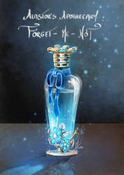 Forget me not Potion by MagicalKaleidoscope