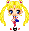 Pixel Sailor Moon by NanzzyRulezz
