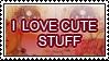 I LOVE CUTE STUFF STAMP by Queen-Soulia
