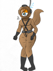The old diving suit