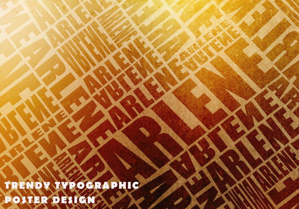 Trendy Typographic by ZooeyChloe