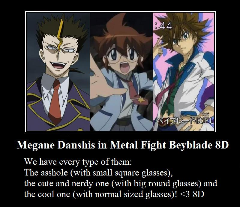 Megane Danshis in Metal Fight Beyblade 8D by Fragrancy