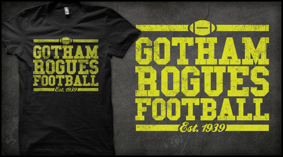 gotham rogues football t shirt design by delux design on