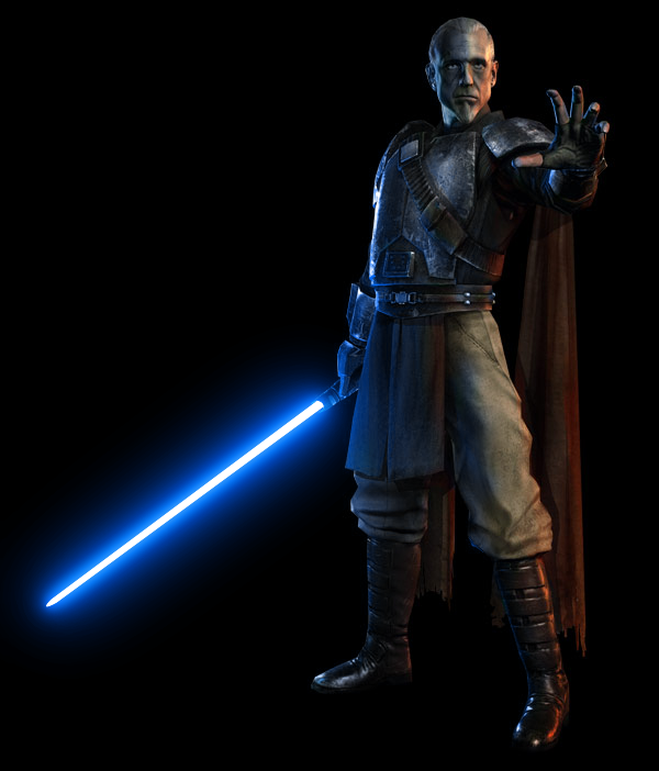 General Kota with a blue lightsaber by gamma097