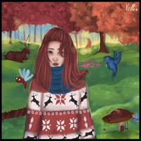 autumn girl by Vollatina