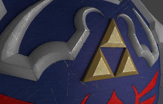 3D Hylian Shield Preview