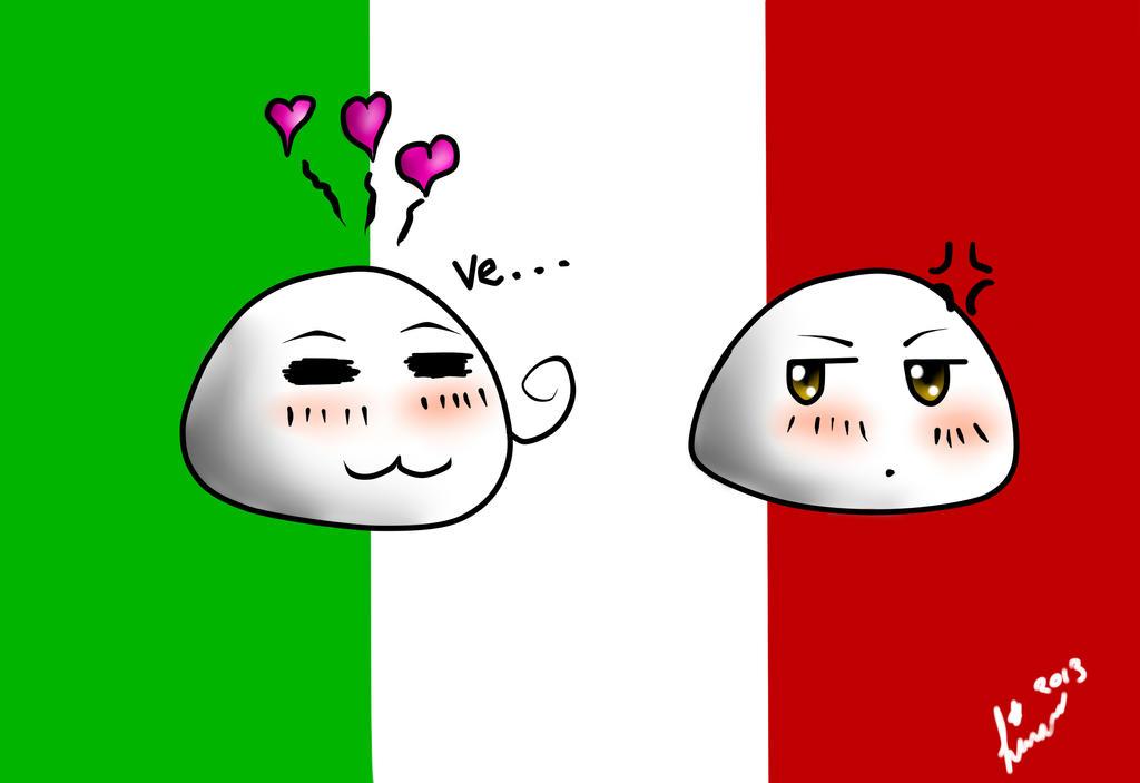 Italy and Romano Mochi by Linanae1 on DeviantArt  Italy and Roman...