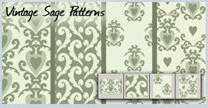 Vintage Sage patterns by brushfs
