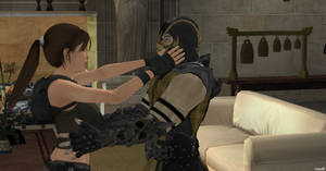 Scorpion in Love!!!!! with Lara Croft