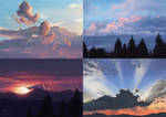 Sky Studies by MalcressArt
