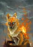 Fiery Dhole by MalcressArt