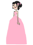 Ella In A Beautiful Light Pink Gown