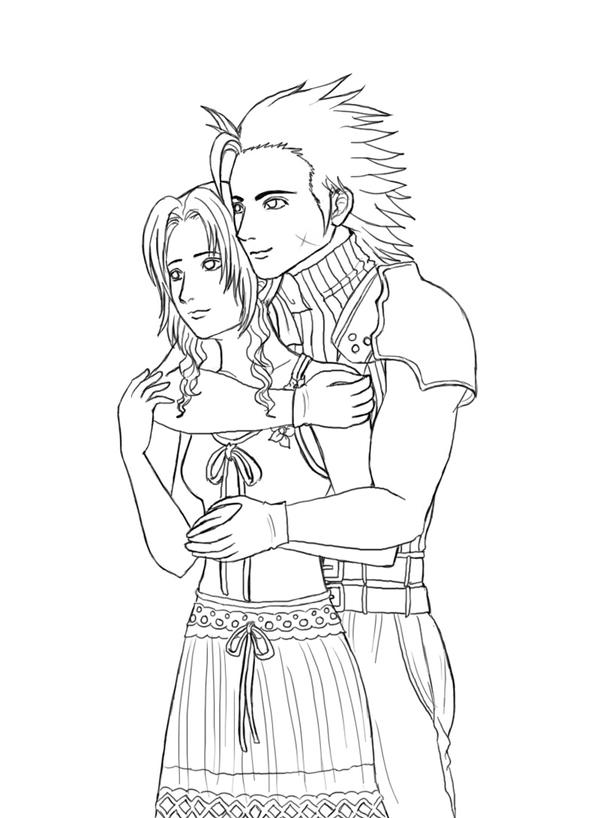 Aerith x Zack by Wakamoley