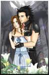 Aerith and Zack -colored-
