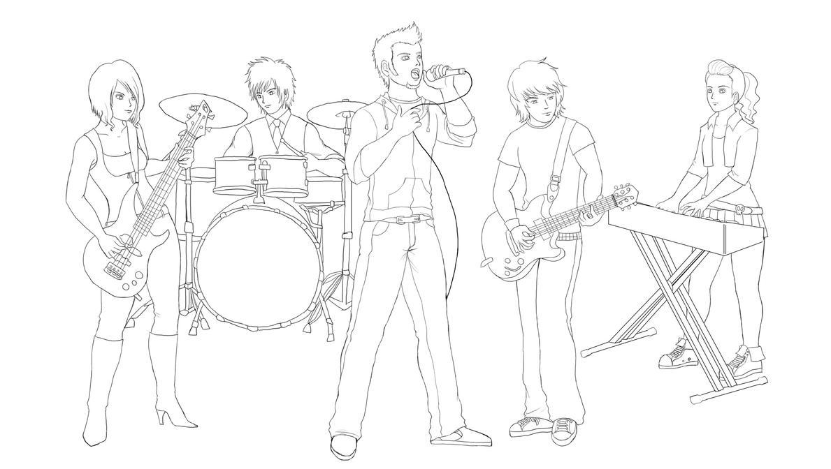 OC Rock Band -sketch- By Wakamoley On DeviantArt