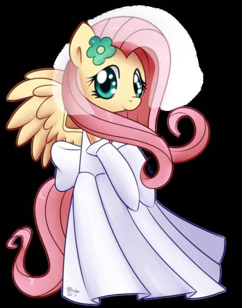 Fluttershy - Wedding Dress by Bukoya-Star