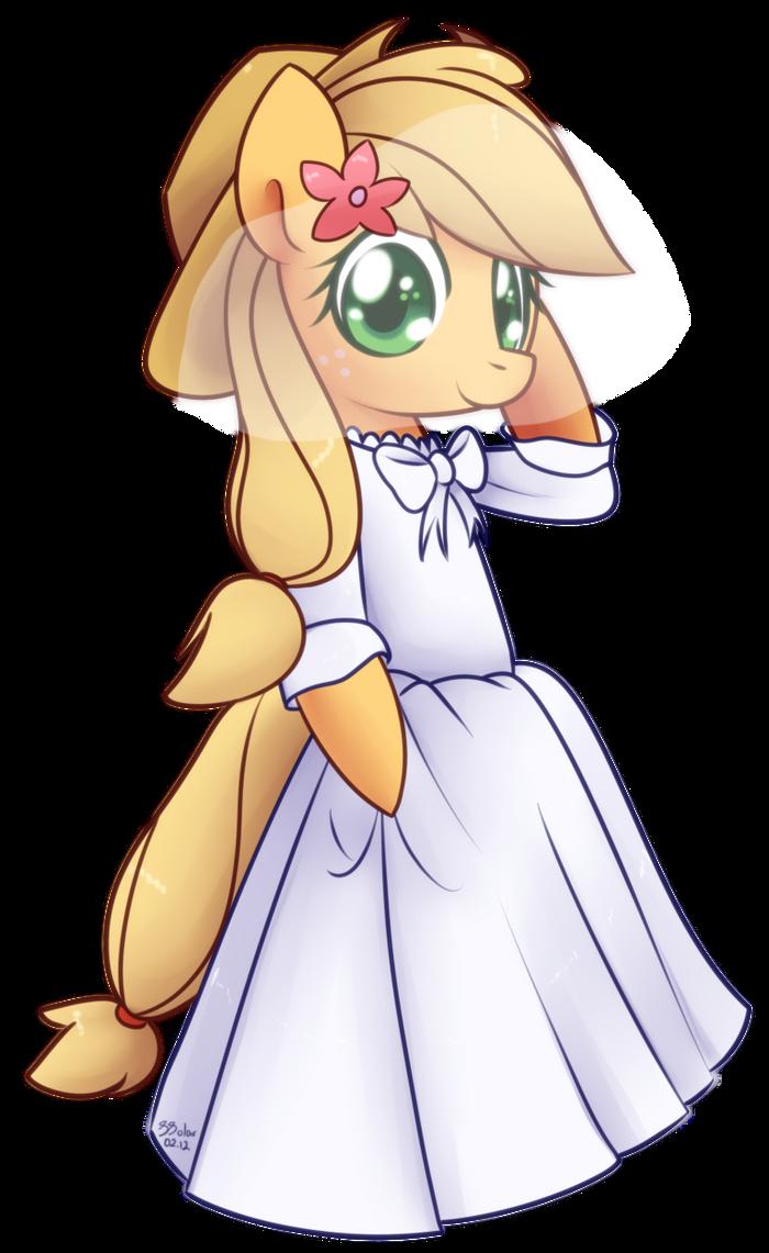 Wedding Dress - Applejack by Bukoya-Star