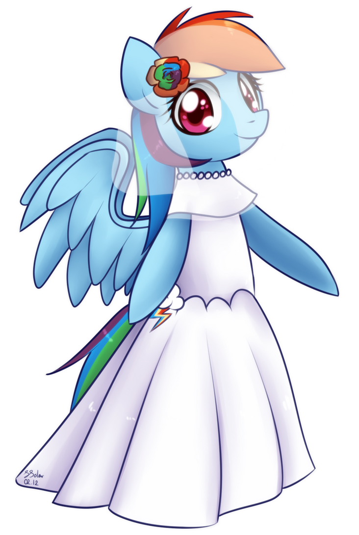 Wedding Dress - Rainbow Dash by Bukoya-Star