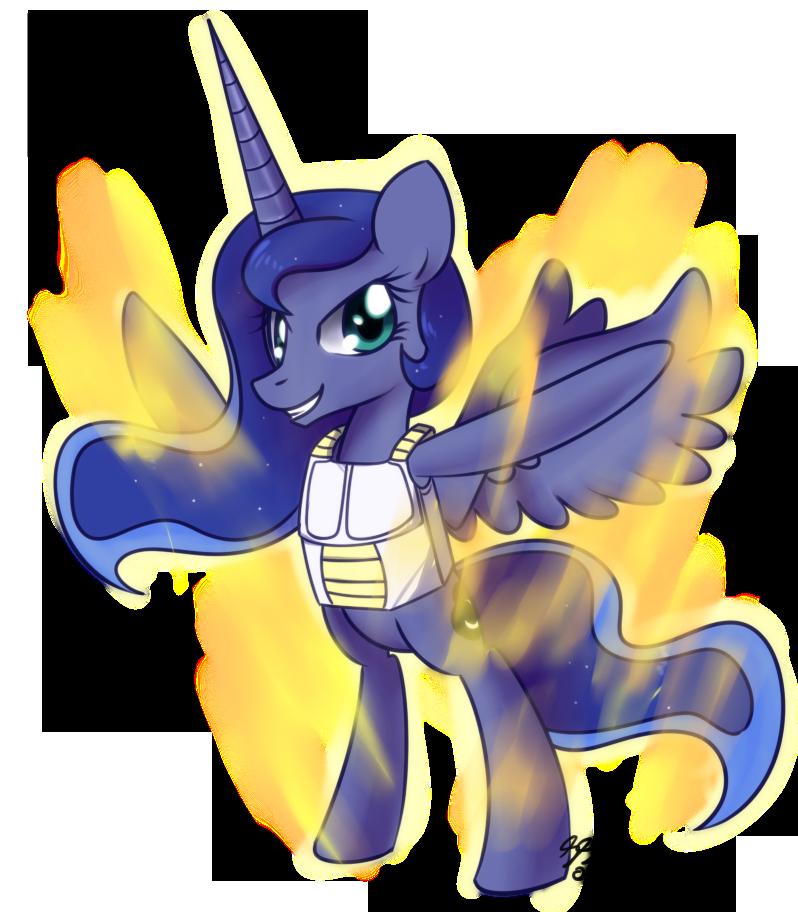 Luna Final Flash While Saiyan Armor by Bukoya-Star