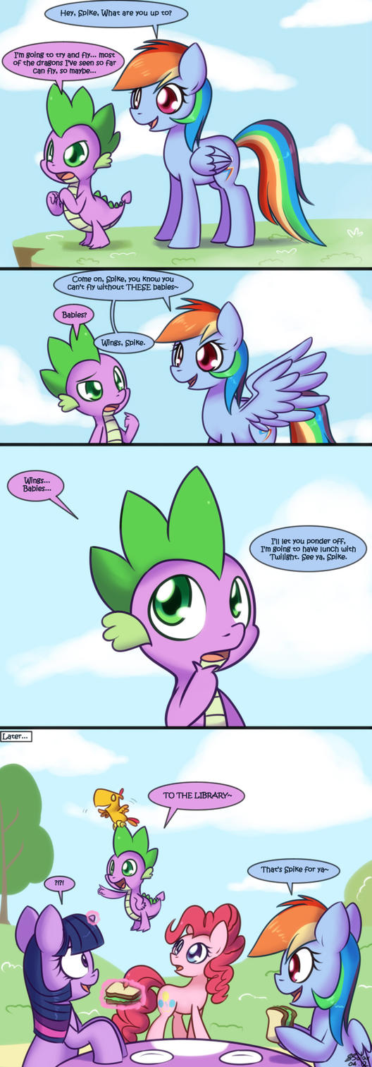 Spike Takes Flight by Bukoya-Star