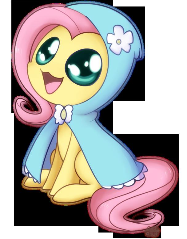 Fluttershy - Hoodie Chibi by Bukoya-Star