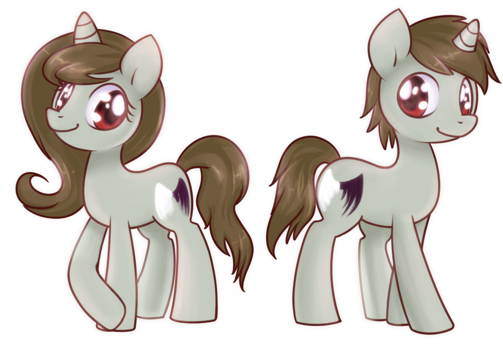 Double lookalike ponies by Bukoya-Star
