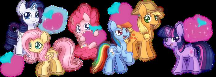 Pony Plushies by Bukoya-Star