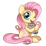 Fluttershy and Pusheen the cat