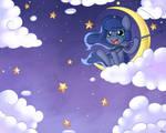 Chibi Luna - Star Fishing